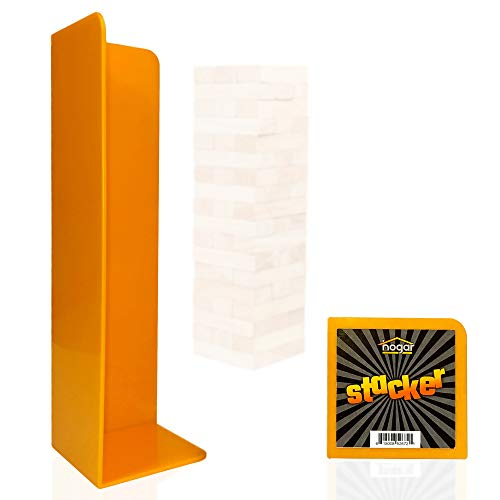 Hogar Wood Block Tower Stacking Tray Game Accessory Ages 6 to Adult - Compatible with Tipsy Tower, Lewo, WE Games and More