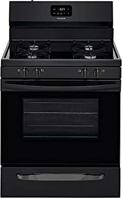 "Frigidaire FCRG3015AB 30"" Freestanding Gas Range with 4 Sealed Burners 5 cu. ft. Oven Capacity Storage Drawer Even Bake Technology Electronic Kitchen Timer in Black"
