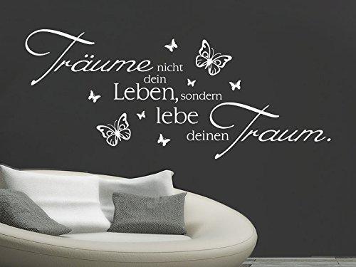 Klebeheld® Wandtattoo Träume Nicht Dein Leben, sondern lebe deinen Traum. No. 1