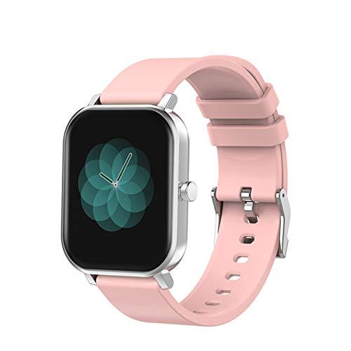ZYY S10 1.69 Pulgadas Smart Watch para Damas y Hombres, toach toach Completo Monitoreo del sueño Trucidador de Fitness IP68 Smartwatch para Android iOS,A