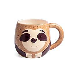 balvi Sloth Cup Tasse mit Faultier Gesicht Fassungsvermögen: 500 ml Keramik