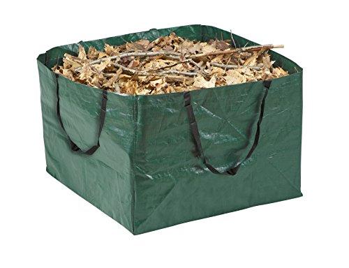 Meister Gartenabfallsack 245 l - Witterungsbeständig - Abwaschbar / Praktisch faltbar / Stabiler Gartensack für Grünabfälle / Rasensack / Laubsack aus robustem Gewebe / 9960990