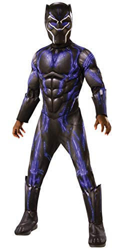Rubies Costume Co. Inc Black Panther Child Deluxe Battle Blue Suit Medium