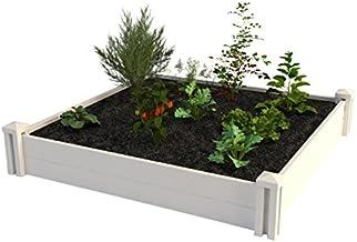 "Vita Gardens VT17108 Vita 4X4 Vinyl Raised, 11"" H, White x 4ft Modular Garden Bed"