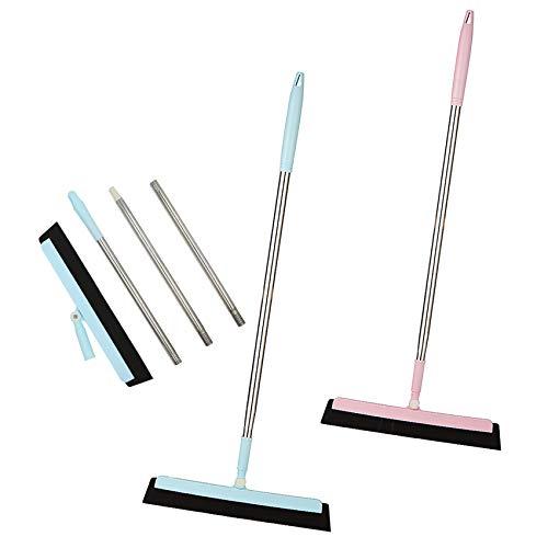 Rasqueta de piso con giro de180°, para limpiar el suelo,limpiacristales,mango largo,109cm,perfecto para limpiar el baño, la habitación húmeda, las ventanas, la ducha, el azulejo,2 unidades