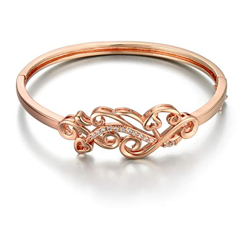 Fnito Armband Damen Armband Glänzende CZ Hohl Design Armreif & Armbänder Für Frauen Handschmuck Geschenk