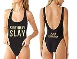 One-Piece Swimsuit Swimwear Bride Squad Birthday Slay Bae Watch Graphic Beachwear