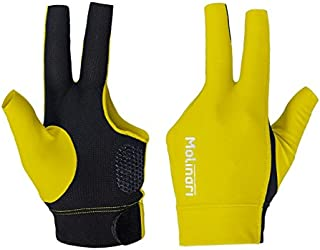 Molinari® 无指手套 V2 专业台球配件,6 种颜色 适用于游泳池左/右手球员(LHP = 右手手套/RHP = 左手手套)女士儿童