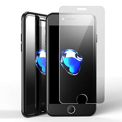 ELESNOW Protector de Pantalla para iPhone 7, iPhone 8, iPhone SE 2020, Premium Full Coverage Cristal Templado, Compatible con Apple iPhone 7/8 / SE 2020-2 Piezas
