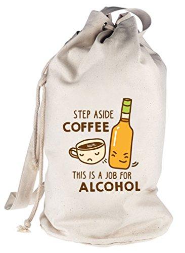Shirtstreet24, Step Aside Coffee, bedruckter Seesack Umhängetasche Schultertasche Beutel Bag, Größe: onesize,natur