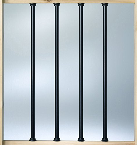 "Deckorators Aluminum 26"" Balusters - Black - 100 Pack (Deckorators DB52613)"