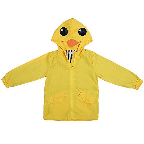 Baby Eend Regenjas, Zomer Baby Jongen Meisje Eend Waterdichte Leuke Cartoon Hoodie Rits Lichtgewicht Regenkleding Jas Outfit 100 Geel