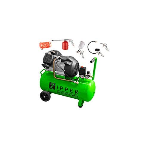 Kompressor ZI-COM50 2V5E Druckluftkompressor inkl. 5 tlg. Druckluft