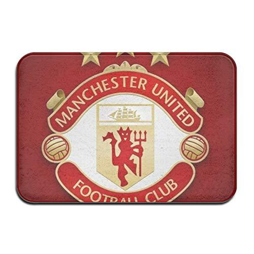 Custom made Manchester United House Sun-Shine Welcome - Felpudo para interiores (interior duradero, antideslizante, para puerta de entrada
