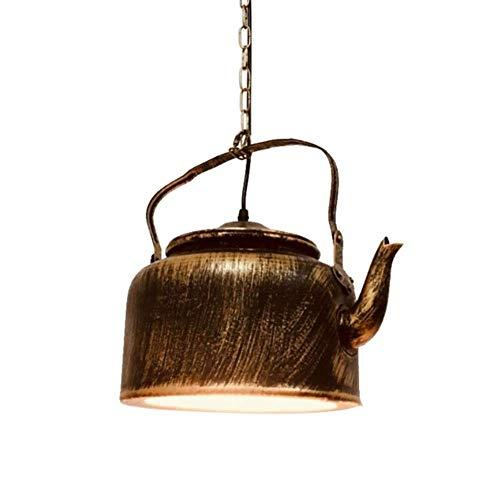 Kronleuchter Deckenleuchte Industrie Retro Rusty Bronze Teekanne Design Do The Old Wrought Iron Mit Acryl Lampenschirm LED Pendelleuchte Hängelampe Für Table House Top Bar Restaurant