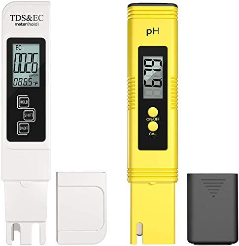 TDS & PH Misuratore 0,01 ph ad alta precisione, misuratore pH + - 2% precisione di lettura PH TDS EC temperatura, tester d acqua 4 in 1 per interni, acqua potabile, idrocoltura idroponica, piscine