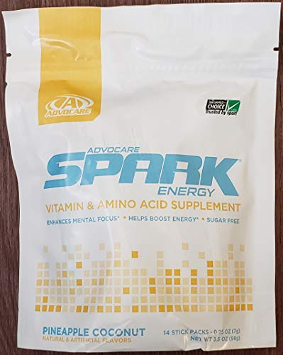 New Flavor Advocare Spark Pineapple Coconut 14 Single Service Stick Packs