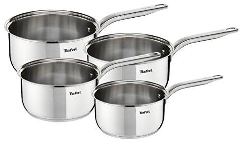 Tefal Intuition INOX Induction Batterie de Cuisine 4 casseroles 14/16/18/20 cm A702S414, Acier Inoxydable, 40,5 x 29 x 17,5
