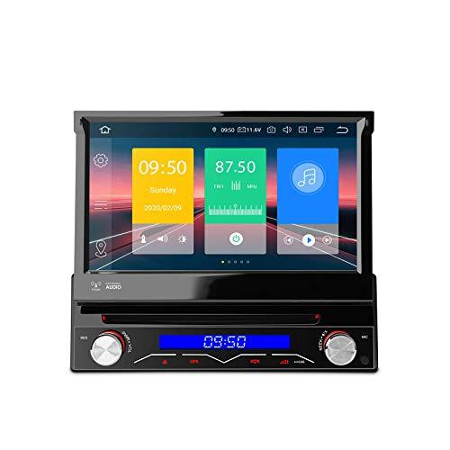 KAUTO 7 Android 10 Autoradio Android Auto Lettore Dvd Radio Universale Supporto Navigazione GPS CarAutoPaly, Fotocamera di Backup, Pannello Rimovibile, WiFi, mirroring dello Schermo