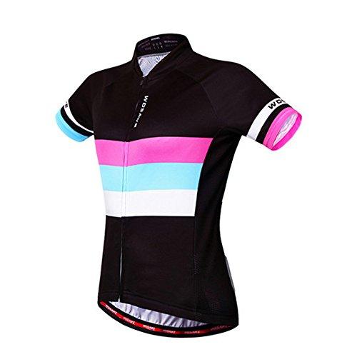 Outdoor Peak femmes à manches courtes cyclisme Jersey Bike Outerwear cool (couleur 2, S 155~160 cm 40~50kg)