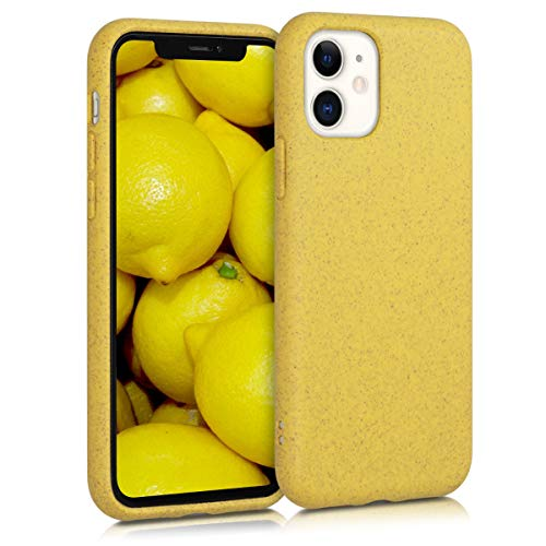 kalibri Cover Compatibile con Apple iPhone 11 - Custodia in Silicone e Paglia - Backcover Matt Anti-Impronte - Giallo