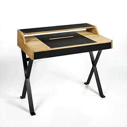Lambert Stanley Schreibtisch Eiche Geölt/Linol.105X60H85Cm