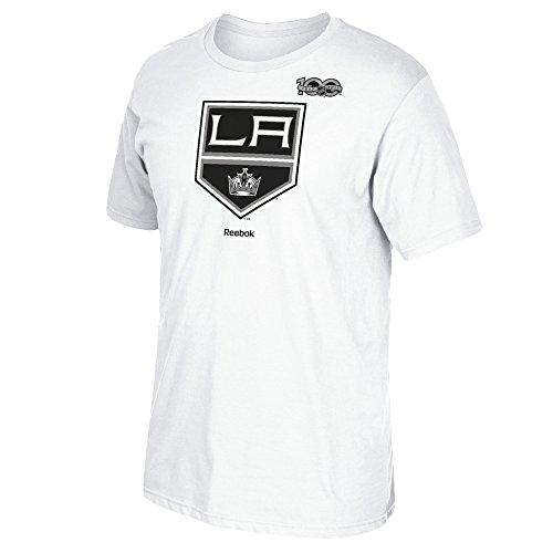 Reebok Centennial - Camiseta para Hombre con Logo primario S/S, Hombre, Logotipo del Centenario con Camiseta S/S con Logotipo primario, 3404A 013 7PLX, Blanco, M