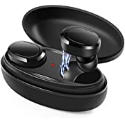 Wireless Earbuds, 5.0 True Wireless Bluetooth Headphones 3D Stereo Sound Wireless Headphones Mini Sweatproof Sport Headsets in-Ear Noise with Built-in Mic and Charging Case