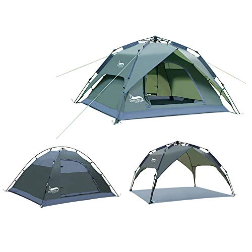 WGYDREAM Camping Tent Outdoor Equipment Waterproof Shoshone Unisex Outdoor Teepee Tent Available In Beige - 3 Persons (Color : Gray)