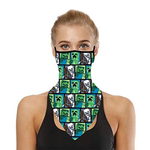 Ave-ngers Schal Mund-Gesichtsbedeckung Sturmhaube Stirnbänder Bandana Ohrschlaufen Herren Damen Hals Gamaschen für Staub Wind Kopfbedeckung Gr. Einheitsgröße, M-inec-raf-t