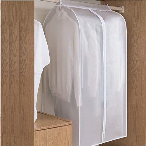 Qisiewell Kleidersack Extra Groß (XL 60x50x120cm) Kleiderhülle Anzughülle - Langzeitaufbewahrung Von Jacke Mantel Kleider Anzug Schutz Vor Staub Schäden Durchsichtig