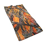 Bathroom Towels Soft Microfiber Absorb Water Towel for Pool Bath Spa Fitness Beach Swim Camping Outdoors Home 27.5 X 17.5 in Camo Orange