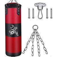 Nubarko Unfilled Hanging Punching Bag (Red)