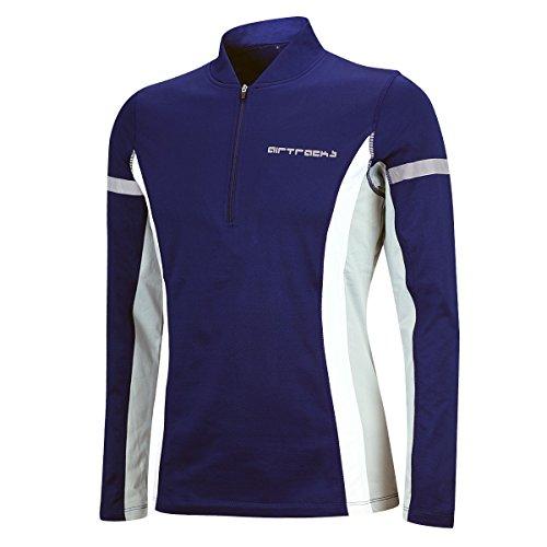 Airtracks Termiczna koszulka do biegania z długim rękawem dla kobiet i mężczyzn – termiczna koszulka funkcyjna – bluza – polarowa koszulka do biegania – ciepła – oddychająca – odblaski niebieski niebieski XXL - Damen