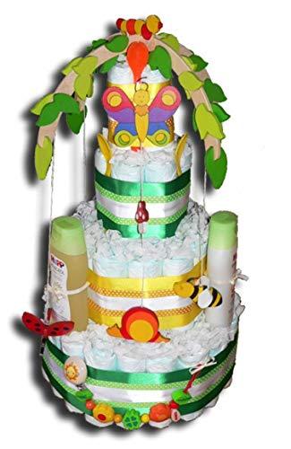 Tarta de pañales mágica para niños y niñas, regalo para baby shower, bautismo, nacimiento, para niños y niñas
