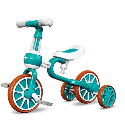 LUOOV Baby Balance Bikes Giocattoli con pedale staccabile e ruote da allenamento per 1-4 anni Ragazzi Ragazze Regalo Primo compleanno Giro in bicicletta Bambini Walker per 10-24 mesi