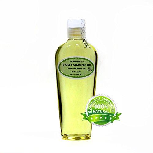 Sweet Almond Oil 100% Organic Skin Care 8 Oz