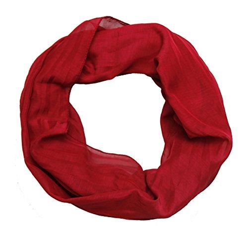 ACC Damen Seide Loop Schal leicht unifarben (rot)