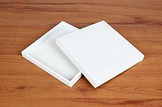 UChic 2pcs Blanco Clásico de Madera Caja de Almacenamiento de Madera Bandeja de Madera sólido Caja de Almacenamiento de cosméticos Postal de Escritorio