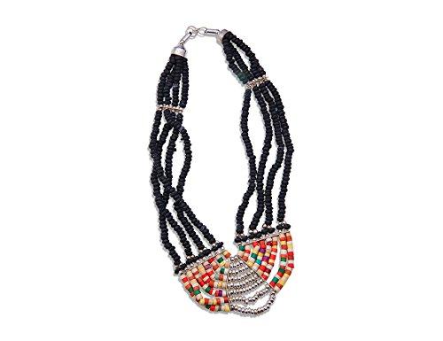 Enez XXL Damen Kette Halskette Blogger Necklace Choker Collier 38 cm VR650
