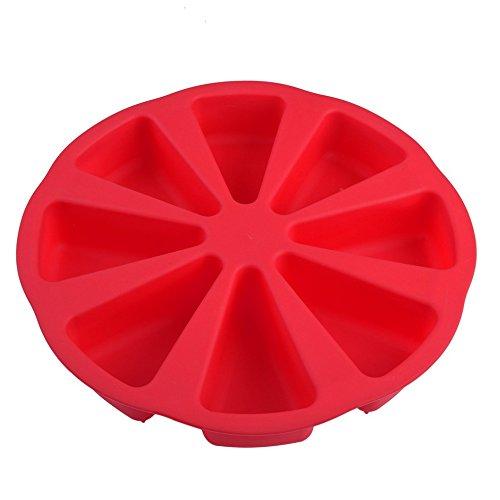 Red 8 Cavity Scone Pfannen 8 Cavity Scone Pfannen 3D-Silikon-Kuchen-Form Diy Backen Gebäck Werkzeuge Kuchenform Ofen Brot Pizza Bakeware Jelly Kuchen-Form