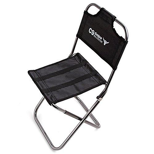 Paramount City Topchances - Chaise de camping pliante en aluminium léger - Mini chaise portable pour extérieur, pêche, randonnée, camping, pique-nique, voyage (chaise pliante)