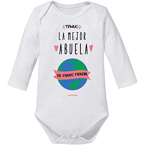 "Body Bebé Abuela""Tengo La Mejor Abuela Del Mundo Mundial"" (12 MESES, MANGA CORTA)"