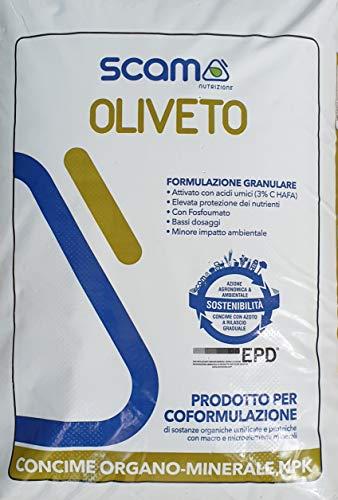 SCAM OLIVETO 25KG CONCIME Organo Minerale NPK con Boro, Ferro e Zinco concime per l olivo