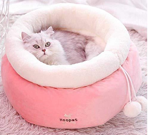 Hondenhok huisdier huiskristal fluwelen auto bed ronde kennel intrekbare kitten hond huisdier schattige roze zachte warme slaap huis mat kussen