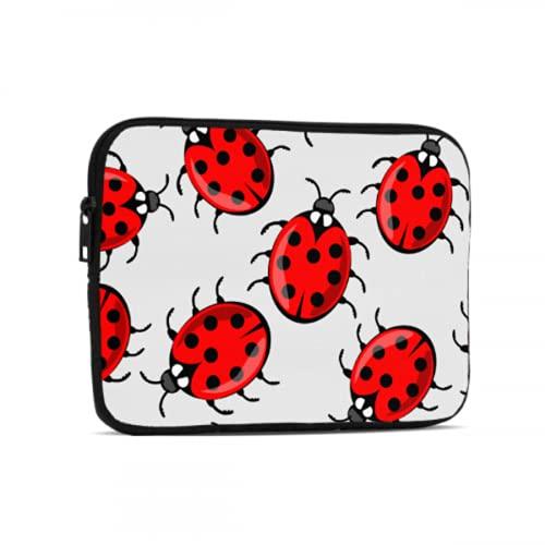 Fundas para tabletas Una Gran cantidad de Encantadoras Fundas para iPad Ladybug de Siete Estrellas compatibles con iPad 7,9/9,7 Pulgadas Bolsa Protectora de Neopreno a Prueba de Golpes co