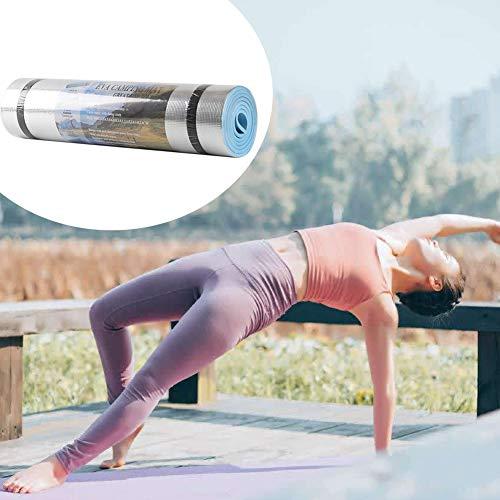 LZDseller01 Estera de Yoga a Prueba de Humedad de película de Aluminio, Gimnasio Fitness Pilates Pad para Ejercicio en casa Pilates Fitness Gym Workout Sport, 180x50x0.6cm