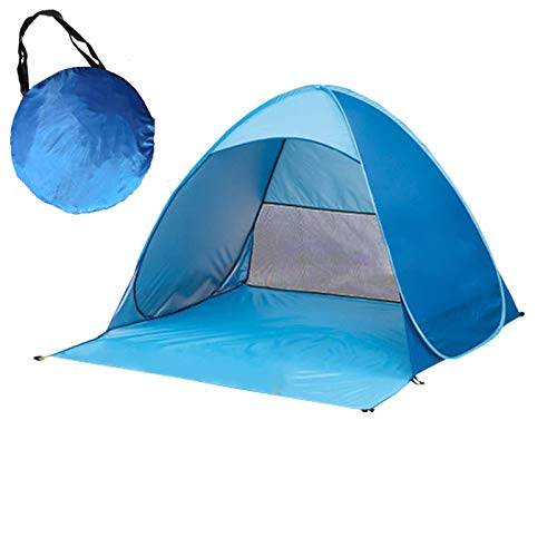 DRGRG Instant Pop Up Camping Tent Outdoor Recreation Tourism Tents Automatic Packable Tent Uv-Protection Beach Tent Waterproof Doubleblue