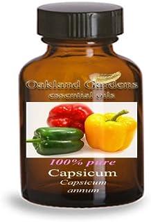 Capsicum Essential Oil - 100% Pure Therapeutic Grade Essential Oil - Hot Pepper Essential Oil By Oakland Gardens (Capsicum...