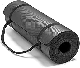 Non-Slip yoga mat 10mm thick NBR Gym home mat exercise mat sport mat-183 * 61cm-Black
